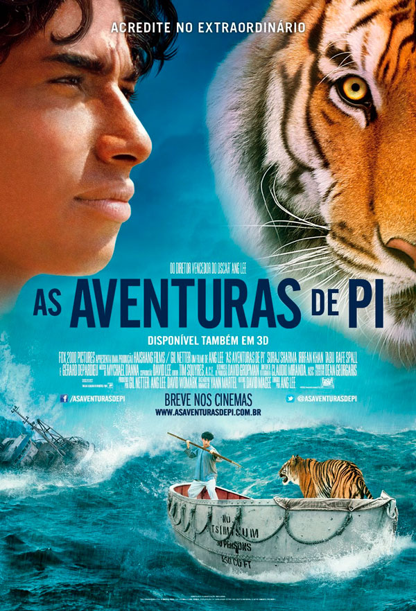 Cartaz do filme As Aventuras de Pi